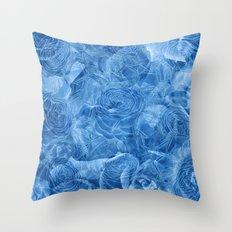 Nostalgia 3 - Blue Throw Pillow
