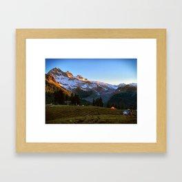 Garibaldi Mountain Sun Rise  Framed Art Print
