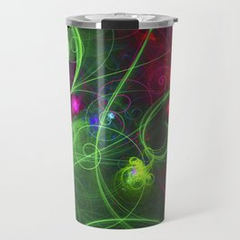 Curly Neon Galaxy Travel Mug