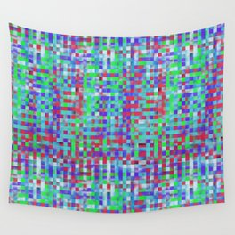 Abstract color square background Wall Tapestry