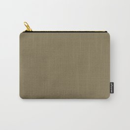 Dark Gold Nugget Mid-tone Brown Solid Color Parable to Valspar Valencia Moss 6008-4C Carry-All Pouch