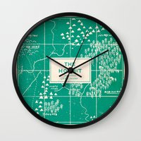 hobbit Wall Clocks featuring The Hobbit by Buzz Studios