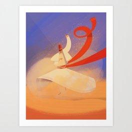 Whirling dervish Art Print