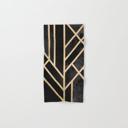 Art Deco Black Hand & Bath Towel
