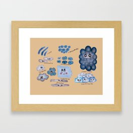 Clouds collection Framed Art Print