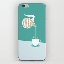 Coffee Pot Head iPhone Skin