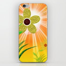 flower,abstract pattern in metal iPhone Skin