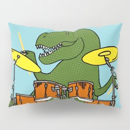 T-Rex Drummer Pillow Sham