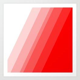 White to Red Art Print