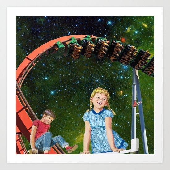 Roller Coaster Art Print