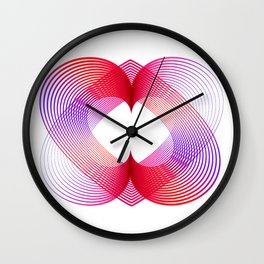 Chromatic love Wall Clock