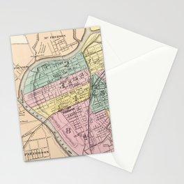 Vintage Map of Dayton Ohio (1872) Stationery Cards