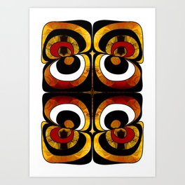 Making Eyes Of Abstract Bliss By Omashte Art Print