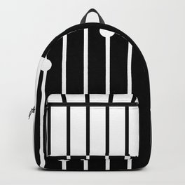 Combined black and white pattern . Backpack