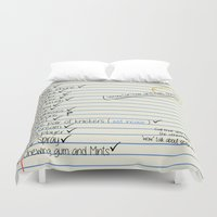tote bag Duvet Covers featuring Chcklist Tote Bag by RooDesign