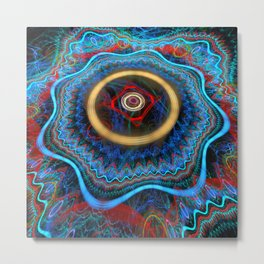 Grunge Colourful Whirly Abstract Metal Print