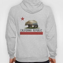California Grizzly Bear Flag Hoody