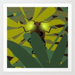 Aglow: headlight click beetles  Art Print