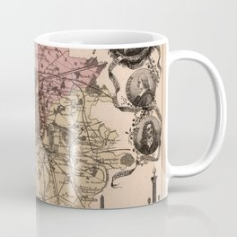 Map of Paris 1869 Coffee Mug
