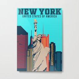 New York Vintage Poster Metal Print