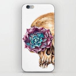 Blooming skull iPhone Skin
