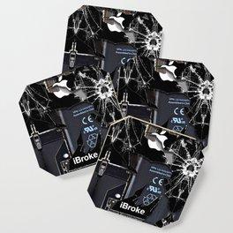 Broken Damaged Cracked out handphone iPhone Coaster