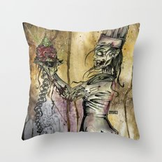 Zombie Pastry Chef Throw Pillow