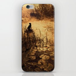 Silhouette on the lake iPhone Skin