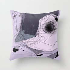 blue penguin Throw Pillow