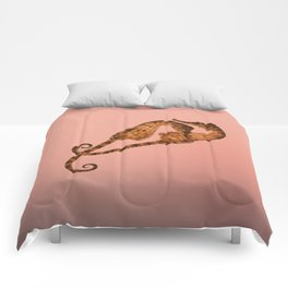 Sea horse in love Comforters