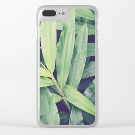 Ginger Leaves Clear iPhone Case