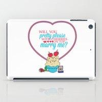 sandra dieckmann iPad Cases featuring The proposal.. pretty please with cherries on top.. sandra bullock by studiomarshallarts