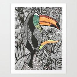 Tucano Brasil Art Print