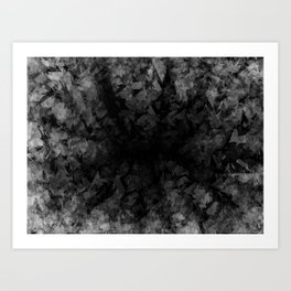 Abstract Radial Gradation Art Print