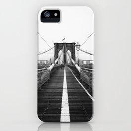 Brooklyn Bridge Black and White iPhone Case