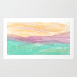Sherbet Shores Art Print