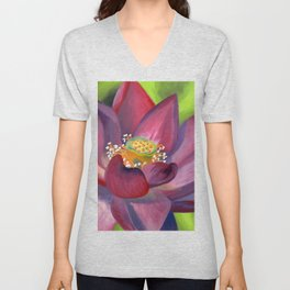 Lotus in Bloom Unisex V-Neck