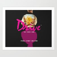 video game Art Prints featuring Drive Video Game by Simon Alenius