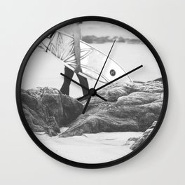 catch a wave IV Wall Clock