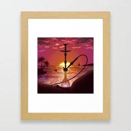 Hookah Sunset Framed Art Print
