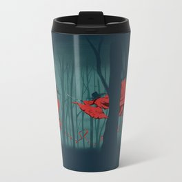 Red leaves Metal Travel Mug