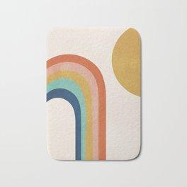 The Sun and a Rainbow Bath Mat