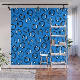 Headphones-Blue Wall Mural