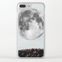 Moon in the fall Clear iPhone Case