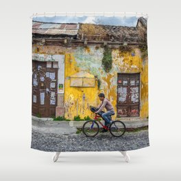 Antigua by bicycle Shower Curtain