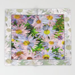 DAISEY MADNESS ABSTRACT  Throw Blanket