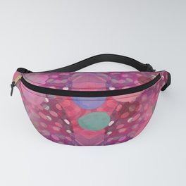 """Abstract polka dots in pink and pastel colors"" Fanny Pack"