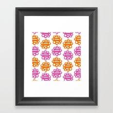 Fun Flowers pink orange Framed Art Print