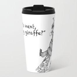 Knitting Giraffe Travel Mug