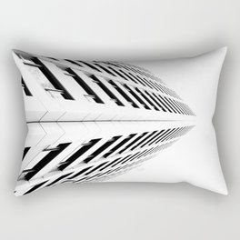 Keep Your Aim High (White Symmetry) Rectangular Pillow
